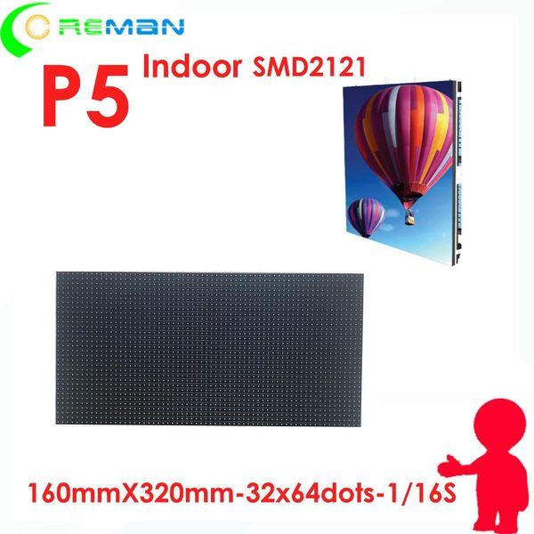 Buone prestazioni a basso costo smd2121 full color 64 * 32 led module p5 p4 / modulo led di alta qualità modulo p5 indoor rgb 32 * 64