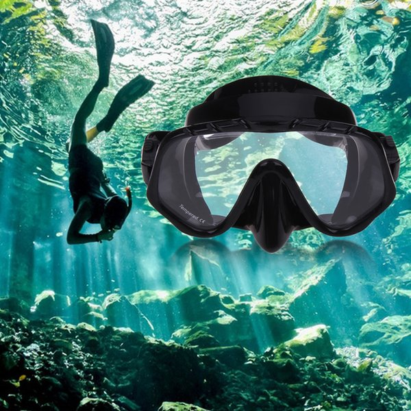 New Arrival Diving Protective Silicone Skirt Strap Snorkel Mask & Goggle with Great Vision&Tempered Glass Diving Set