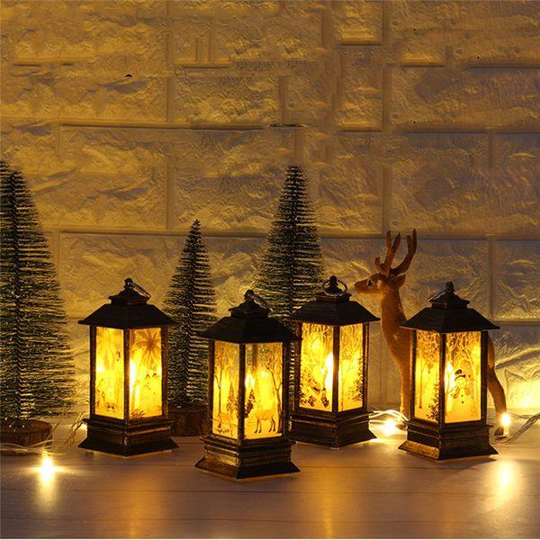 Weihnachten führte kleine Öl Lampe Simulation tragbare Lampe Einkaufszentrum Fenster Bar Restaurant Indoor Flamme Lampe Dekoration Lieferungen