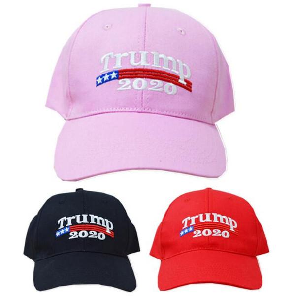 Embroidery Trump 2020 Make America Great Again Donald Trump Baseball Caps Hats Re-Election Snapbacks Adults Sports Visor Cap Outdoor Hat