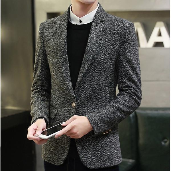 Men Suits & Blazer 2018 Spring Autumn New Fashion Slim Suit Korean Casual Jacket Trend Slim Male Clothing Suit Coat