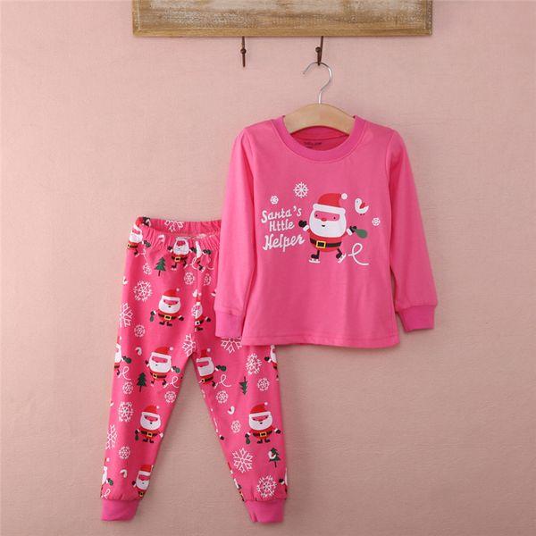 4de982e89 New Boys Girls Xmas Santa Claus Nightwear Sleepwear Pj's Set Children  Pyjamas Suit christmas pajamas kids