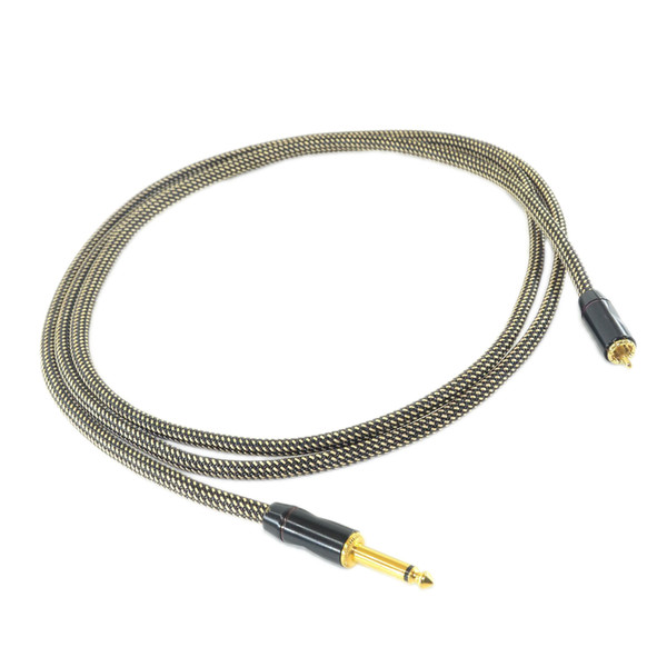 1PC HEAVY DUTY 15AWG COPPER WIRE RCA CLIPCORD 2METER CCSNAKERCA-02B FOR TATTOO POWER SUPPLY