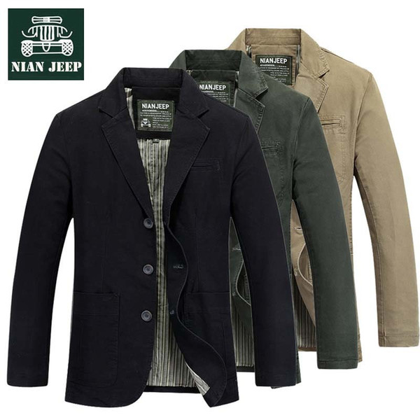 NIAN New  Mens Suits Cotton Slim Fit Casual Blazer Jacket Male Clothing Big Size 4XL