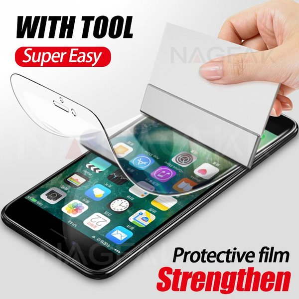 NAGFAK 0.15mm Hydrogel Membrane Film For iPhone 8 7 Plus 6 6s Plus X With tool Screen Protector film For iPhoneX (Not Glass )