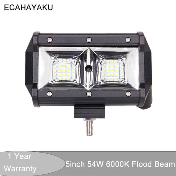 Car accessories LED 54W Tri-row 5inch Car Led Light Bar 6000K for 12V 24V Off Road Boat Car Tractor Trucks 4x4 SUV ATV