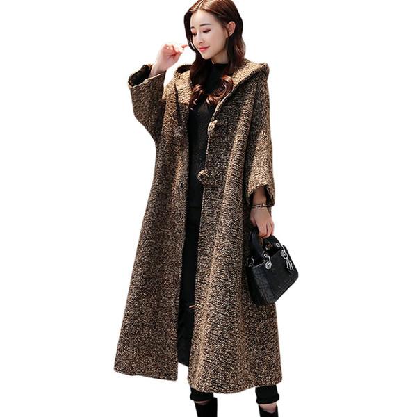 Woolen weibliche mantel plus Winter Neue Herbst größe mantel yvf7bgYmI6