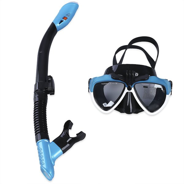 Swimming Scuba Anti-fog Goggles Diving Water Sports Training Silicone Mask Glasses Dry Snorkel Set Underwater Camera Diving Mask