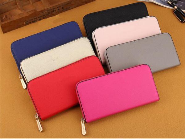 sac à main designer portefeuille nouvelle arrivée de haute qualité en cuir de mode une fermeture à glissière luxe portefeuille long sac à main des femmes