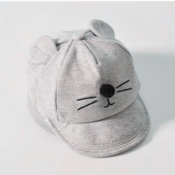 New Baby Design Cat's Ear Kids Baseball Cap Boy And Girls Summer Cotton Mesh Sun Hat Mix Wholesale