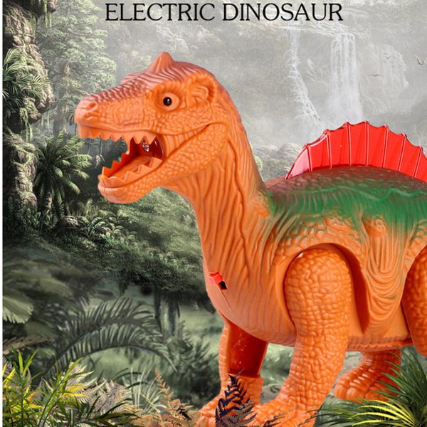 Electronic toys, children's toys,luminous electric dinosaurs,light-sensing dinosaurs, plastic dinosaurs that walk,free shipping