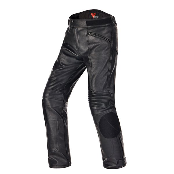 NEW Winter DUHAN 05 Motorcycle PU Leather Pants Motocross Dirt bike Trousers Racing Riding windproof Motor Protective pants