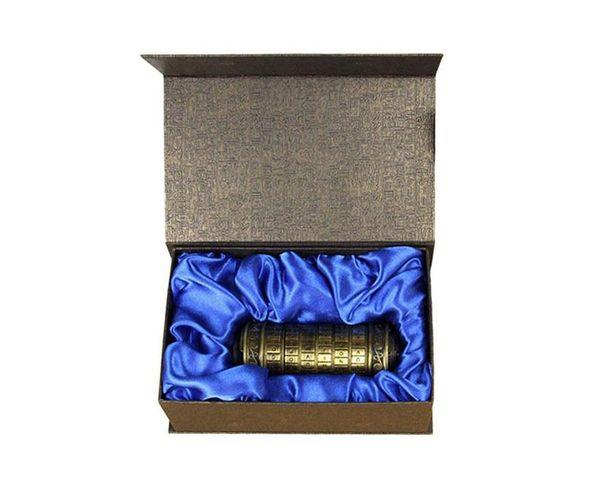 The Da Vinci Code Cryptex Alphabet Lock Wedding Ring Box - Valentine's Day Christmas Gifts Girlfriend Boyfriend Birthday Gift