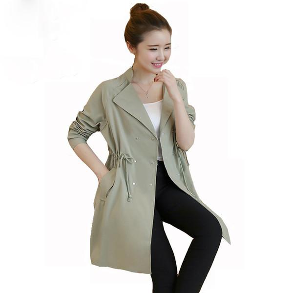 Trench Coat Larga Para Mujeres 2018 Mujer Compre Nuevas Otoño zxqwvcI6