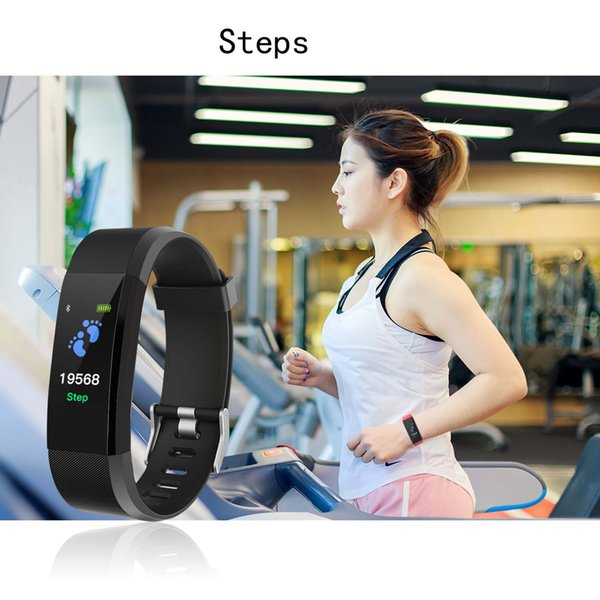 ID 115PLUS Dynamic Heart rate Bluetooth Colorful Screen Smart Bracelet Best-selling item Message Push and Step Calls Reminder Take photos