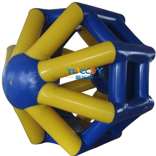 Funny human hamper water roller walking inflatable wheel water game toy with high quality