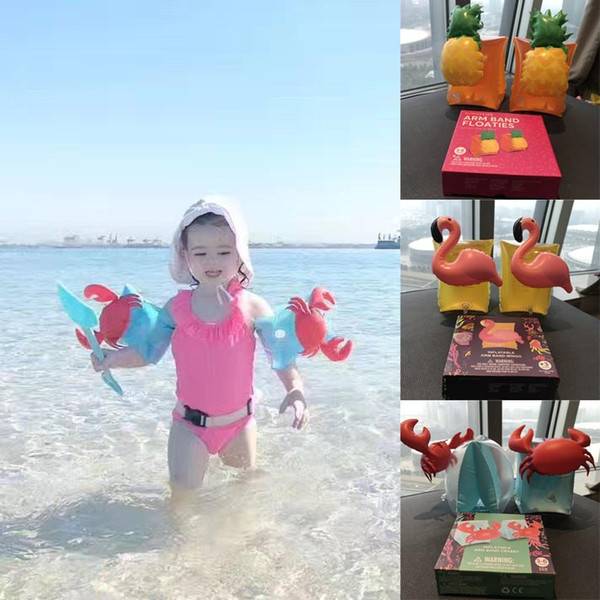 best selling Kids Inflatable Arm Band Swimming Armlet Flamingo Crab Baby Swim Rings Safty Assistive Tools Inflatable Float Swim Arm Ring
