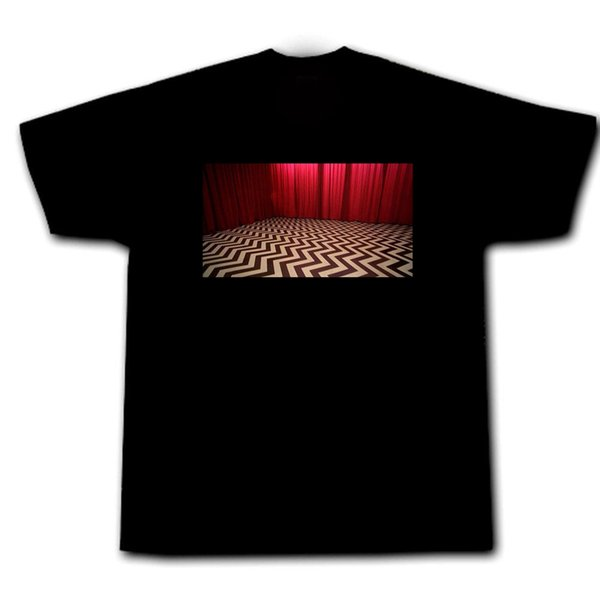 Twin Peaks Red Room Agent Cooper Laura Palmer Cherry Pie Coffee Bob Black Lodge Summer Short Sleeves Cotton T-Shirt top tee