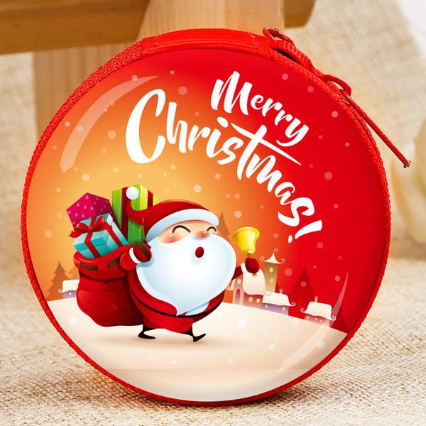 Santa Claus Cartoon Metal Mini Money Box Coin Purse Creative Children S Toys Merry Christmas Snowman Pendant Gift For Kids Christmas Baubles Sale