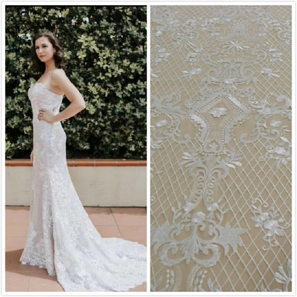 100% cotton african embroidery fabric lace floral tulle mesh lace 2018 high quality guinea brocade fabric 5 yard lot