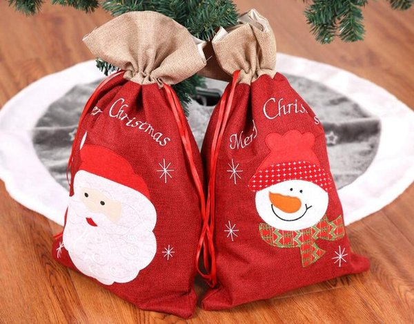 Freeshipping 2pcs presente de natal saco sacos de lotação de natal decoração