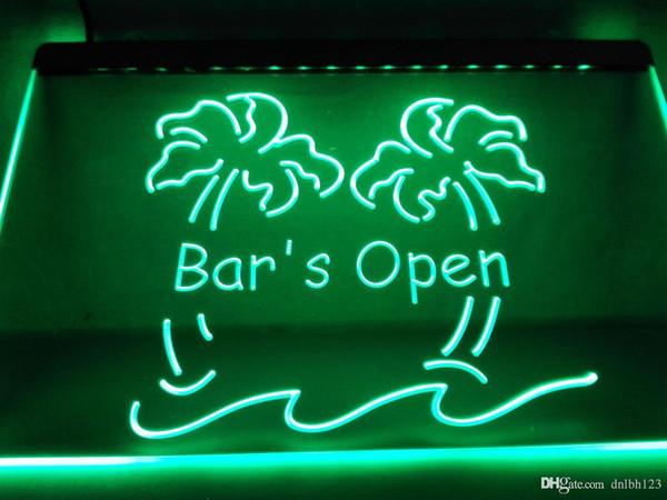 LB814g- Bar è Open Palm Tree Pub Beer LED segno di luce al neon