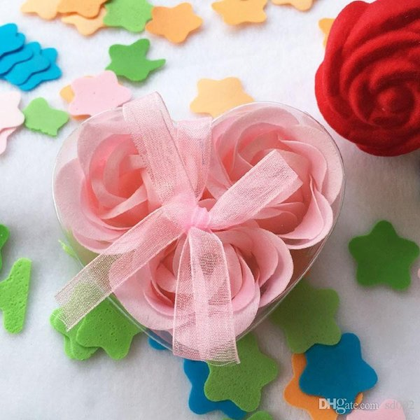 Fake Flowers For Mother Days Valentines Day Gift Bouquet Exquisite Heart Shape Rose Head Soap Wedding Gift 0 95mw ii