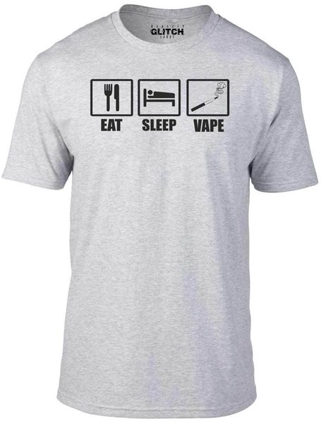 Details zu Men's Eat Sleep Vape T-Shirt - Funny GIFT LIQUID SMOKE MACHINE FLAVOUR VAPE Casual Funny free shipping Unisex tee gift