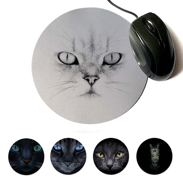 MaiYaCa In Stocked Persian cat art Gamer Speed Mice Retail Small Rubber Mousepad 200x200mm 220x220mm Round Mouse Pad