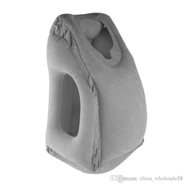 Neuheit Tragbare Aufblasbare Reisekissen Luft Weichen Kissen Reise Faul Körper Rückenstütze Folding Schlag Büro Schlafen Nackenkissen