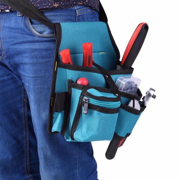 Electrician Tool Bag Screwdriver Utility Kit Holder Carpenter Tool Bag Waist Pocket Belt Pouch Drill Hammer Storage