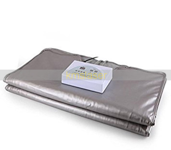 Body slimming Infrared light heating 2 zone sauna blanket
