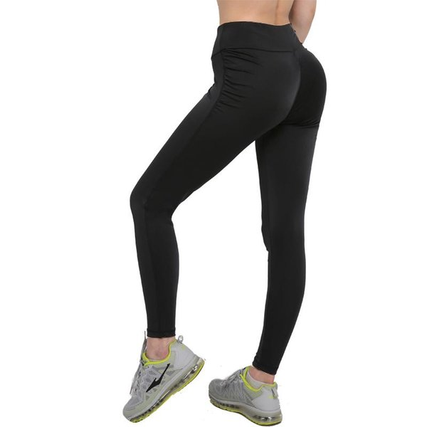 best selling S-XL Women Push Up Leggings Sexy Polyester Large Size Black Slim Leggings High Waist Sexy Hip Solid Trousers for Women