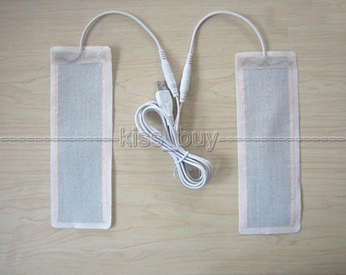 Freeshipping Une Paire 5V USB Chauffage Élément Chauffant Film 6 * 20CM Pour Les Pieds Chauds Chauffant Électrique
