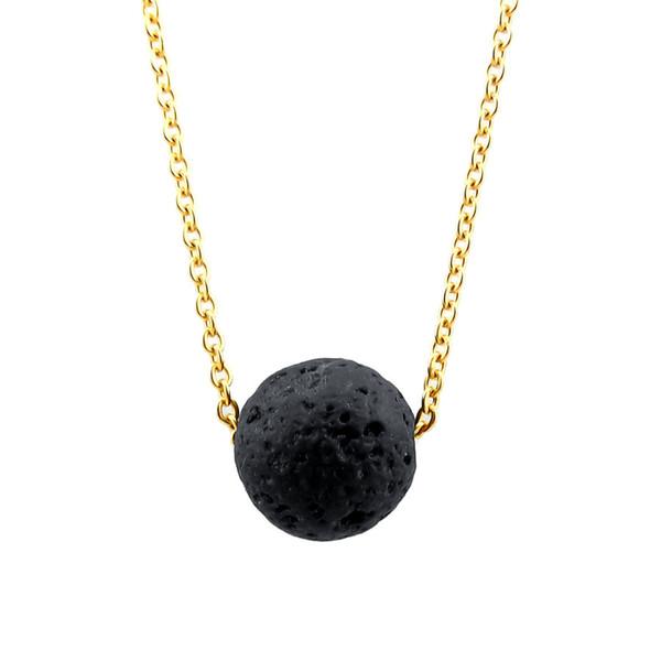 2018 heißer verkauf minimalistischen lava stein ätherisches öl diffusor halskette aromatherapie schmuck lava kugelkette halskette