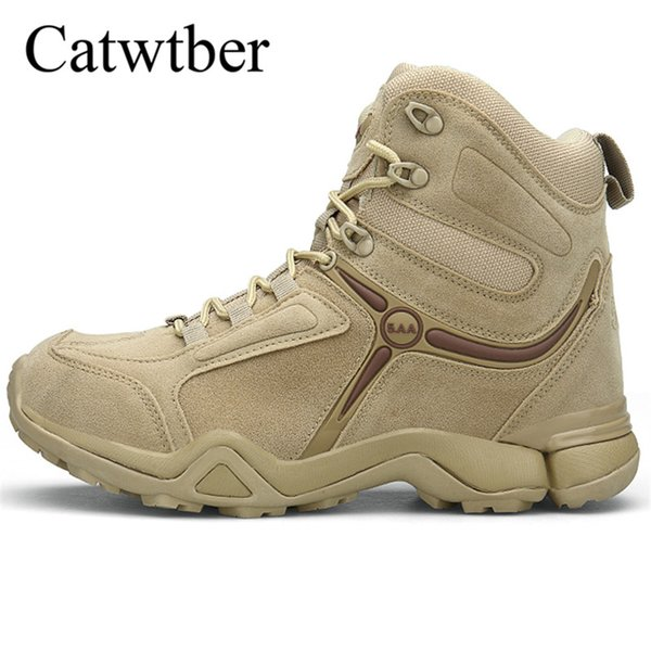 Catwtber 2018 New Trend Martin Boots For Men Khaki Work Boots Hard-Wearing Casual Male Rubber Sole Mens Fashion Foot Work