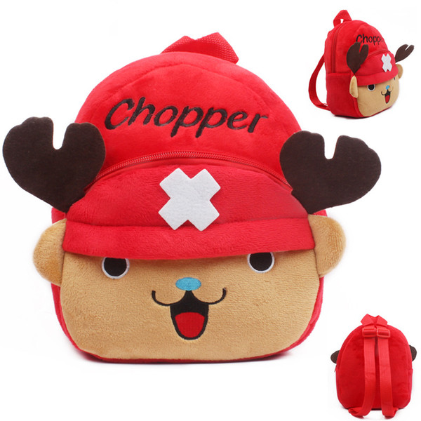Baby mini school bag ONE PIECE Tony Tony Chopper children plush backpack toys for kindergarten kids boys girls schoolbag