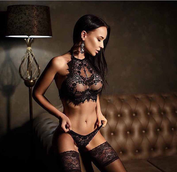 top popular Erotic underwear feeling eyelash lace sexy underwear erotic underwear Three point type transparent temptation foreign trade 2019