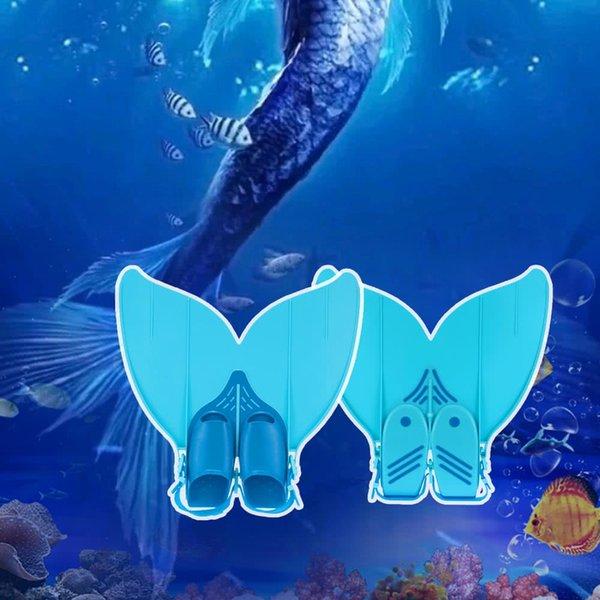 Swim Fin Teen Teenager Mermaid Swimming Fins Diving Monofin Swimming Foot Flipper Diving Swim Fin Water Sports Equipment shoe size 35~42