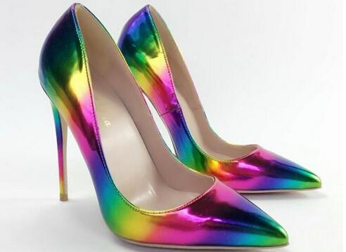 Sexy Purple Shoes Woman Patent Leather High Heels Pumps Stilettos Womens Shoes High Heels Sexy 12CM Ladies Heels Wedding Shoes For Woman