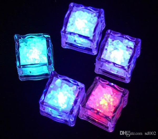 Flashing Ice Cube LED Fluorescent Light Artificial Induction Block For Wedding Party Decor Colorful Lamp Auto Select 0 99xq cc