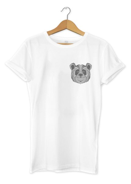 Graphic Panda Pocket Print T-Shirt Hipster Design Urban Art Mens Girls Tee Top Cool Casual pride t shirt men Unisex New Fashion