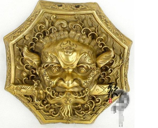 Kwong Kwong House Bronze lion bite sword Copper octagonal bite sword evil spirit Feng Shui supplies