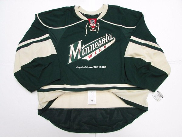 the latest 86025 5e31a 2018 Cheap Wholesale Custom MINNESOTA WILD THIRD TEAM ISSUED EDGE JERSEY  GOALIE CUT 60 Mens Stitched Personalized Hockey Jerseys From Nfljersey1, ...
