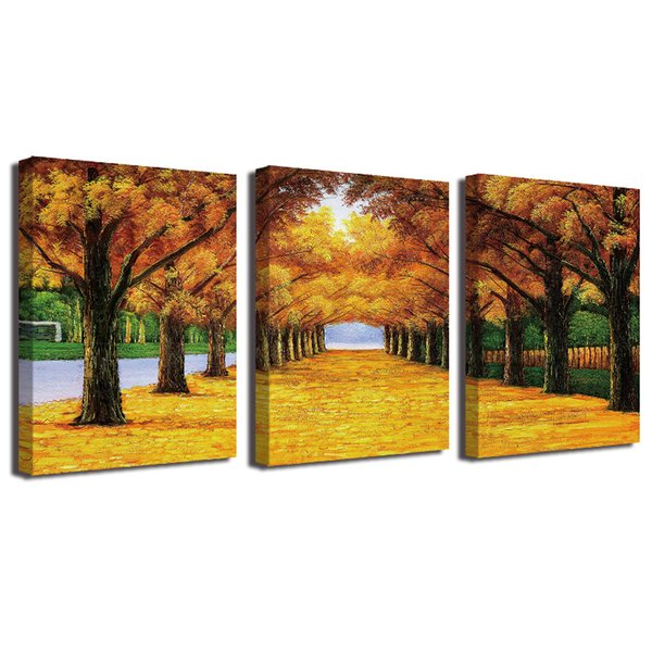 Oil Painting Gold Ground Canvas HD Print Poster Home Decor Canvas Art Wall Painting Poster Framed