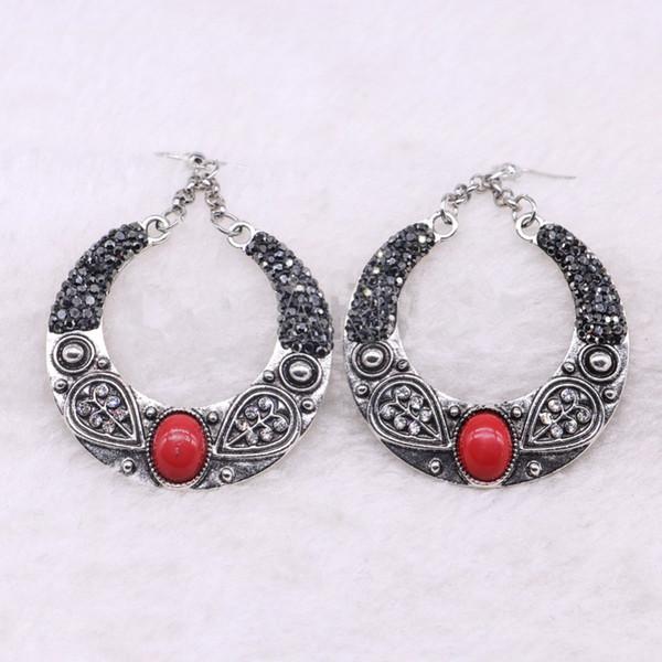 5 Paar Vintage tibetischen Haken Ohrringe Retro Indian Dangle Ohrringe Mode Großhandel Frauen Schmuck