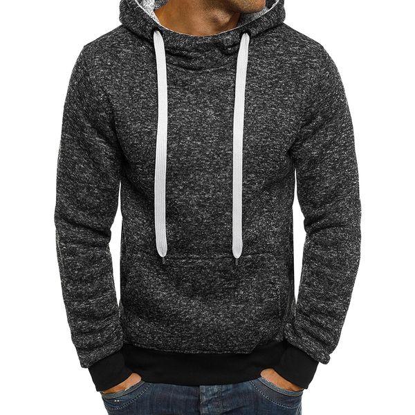2018 Fashion Men Hoodies Long Sleeve Solid Color Men Sweatshirt Male Hip Hop Autumn Winter Hoodie Sweat Coat Casual Sportswear