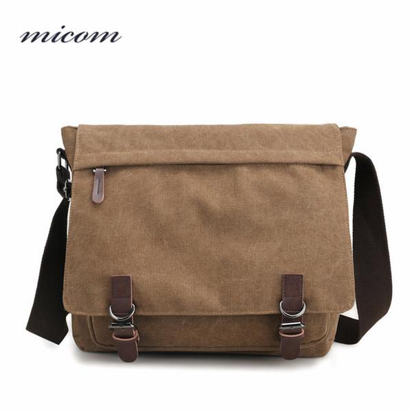 Micom Canvas Men Messenger Bags Vintage Shoulder Belt Bag Large Capacity Business Travel Bag Men's Canvas Crossbody Handbag New