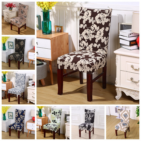 36 Styles Print Chair Covers Polyester Universal size Floral Seat Protector Slipcovers for Hotel Banquet Home Wedding Decor AAA514