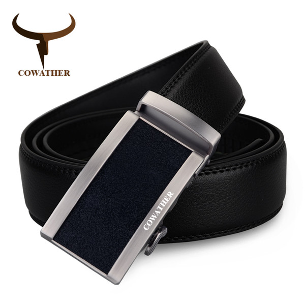 COWATHER New style 100% cow genuine leather belts for men luxury automatic buckle male waistband cinto masculino free shipping